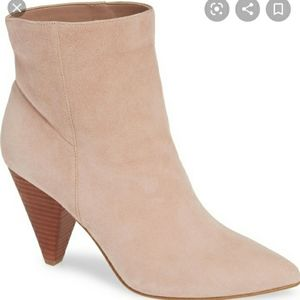 Treasure & bond slope bootie suede cone heeled 9